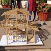 1st yr. miniature model showing wooden construction